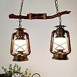 weiwei Wei Lampadario Ristorante Creativo Lampadario Lampadario di bambù Retro lampade da Negozio di crogioli di Hot Pot del Negozio di lampade al Cherosene
