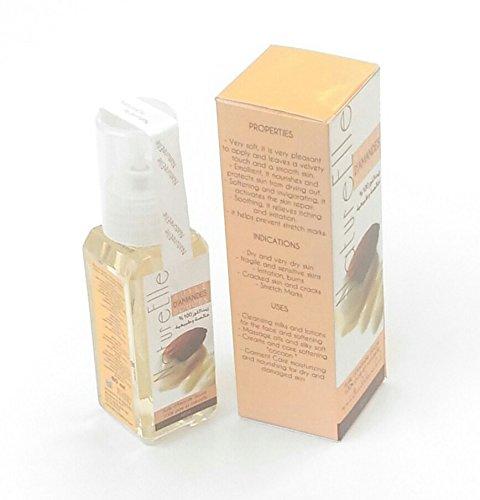 NatureElle aceite de almendras dulces - Emoliente, nutre y protege la piel de la deshidratación - 100% puro - Spray 60 ml