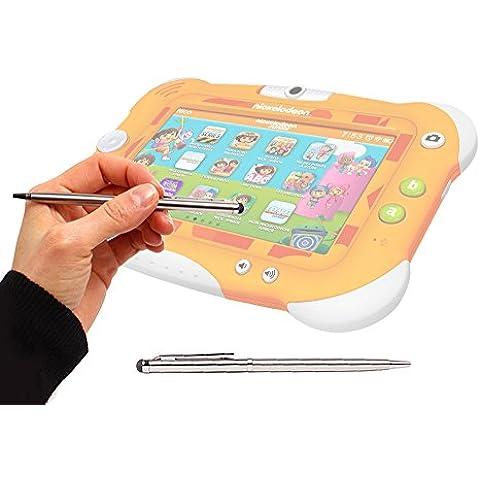 DURAGADGET Lápiz Stylus Plata 2 En 1 Bolígrafo De Tinta Para Pantalla Táctil De Tablet Videojet