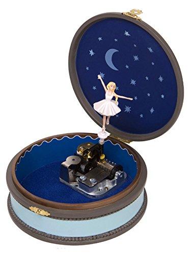 2. Lutèce Créations - Caja de música redonda con bailarina