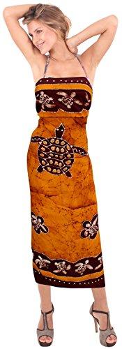 bagno regali resort sarong involucro batik mano costume da bagno costumi da bagno pareo hawaiian coprire donne beachwear Marrone 3