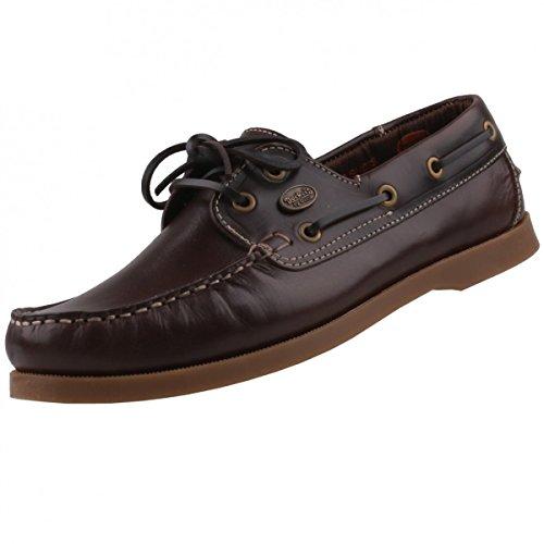 Dockers Por Homens Gerli Moccasins Barco Sapatos Marrom Marrons E Naturais