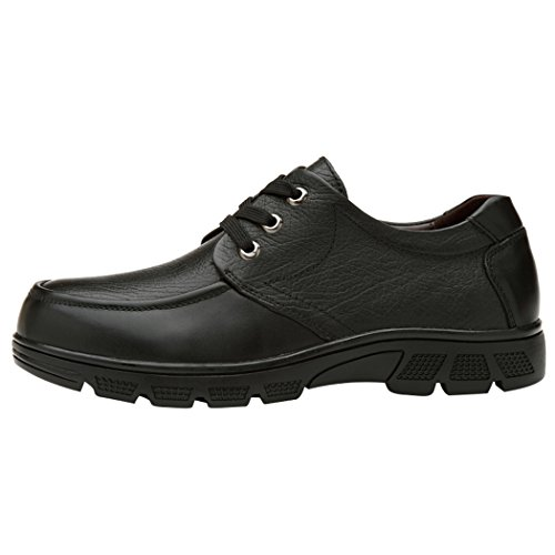Mit Blockabsatz Schuhe Spades Clubs Schwarz Leder Herren Glattes amp; xwq6I7U