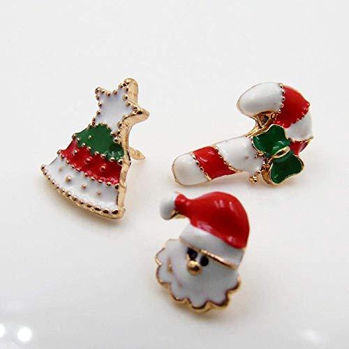MingXinJia Mode Broschen Pins Damenschmuck Drop Glaze Cute Santa Candy Brosche Anzug Kragen Pin Hochwertige Frauen und Mädchen
