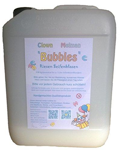 Preisvergleich Produktbild Clown Melman BUBBLES Konzentrat für 5 Liter Riesenseifenblasen, Seifenblasen, Kanister mit Seifenblasenflüssigkeit