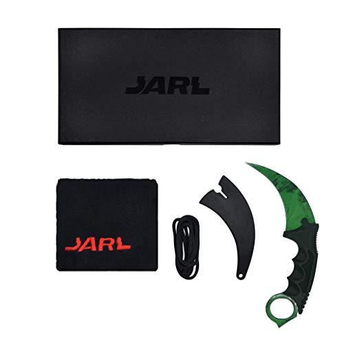 JARL - CS:GO IRL Karambit Messer Replik Gamma Doppler - Counter-Strike: Global Offensive CSGO - Kollektion, Dekoration, vielseitiger Einsatz - Bequemer Fiberglasgriff - Schutzhülle