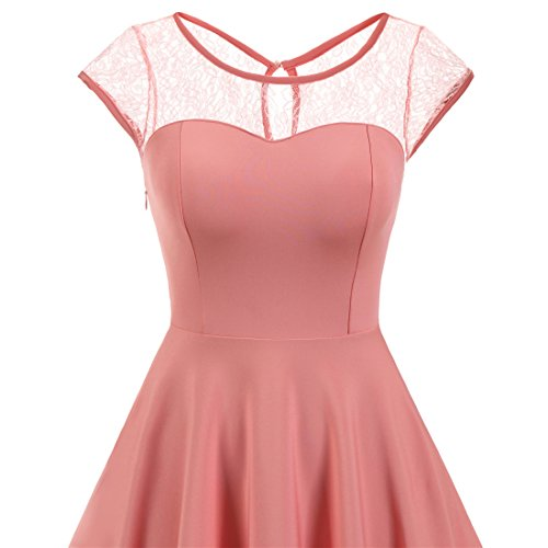 ... Wedtrend Elegant A-linie Cocktailkleid Kurz Spitzen Abendkleid für Damen  Blush ... a302c12b3a