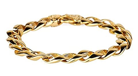 SaySure- Yellow Gold Filled Bracelet Men Men's Jewelry
