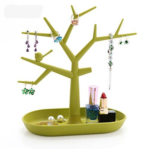 sannix Albero Design Jewelry Display Torre collana orecchini braccialetto supporto Organizer Moda Green