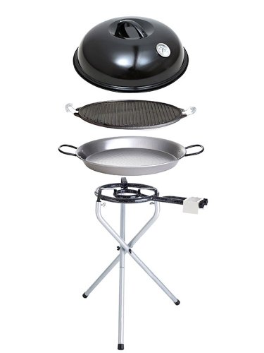 Paella World International Paella-Grill-Set Portabel Nr.1, Mehrfarbig, 5-teilig -