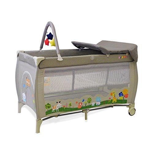 0941e288e889c2 Lit pliant Baby Fox collection  jungle  avec rehausseur, table à langer et  arche