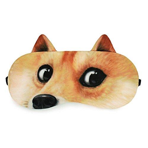 (OKSANO Schlafmaske mit gratis Ohrstöpseln, mit kreativem Tieraugen-Motiv und Kühl-/Wärme-Kompresse)