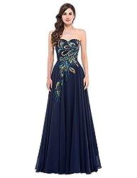 GRACE KARIN Homecoming Kleid ohne arm maxikleid Spitze Standesamtkleid Damen perlen Kleid Hochzeitsgast Abendkleid 34 CL675-2