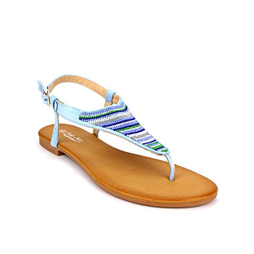 Cendriyon, Tongs bleu ciel CINKS MEE Chaussures Femme Bleu