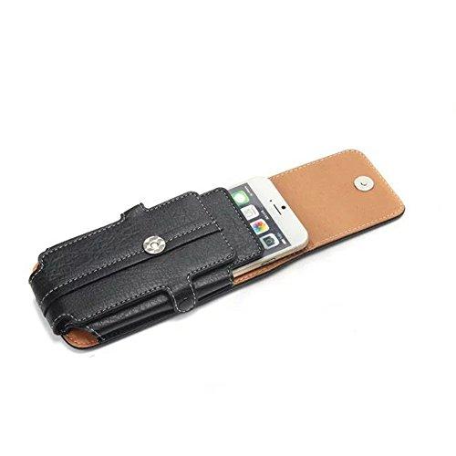 Universal Vertikaler Handytasche Gürtel Holster Tasche Bergsteigen Handytasche mit Schlaufe Karabiner und Kartensteckplatz Schwarz für 4,7-6,3 Zoll ( Color : Black 5.5 inch ) Black 4.7 inch