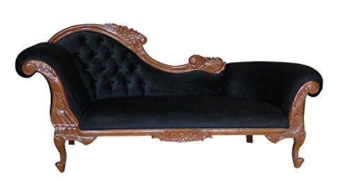 Barock Sofa Kings Chaise Recamiere braun/schwarz