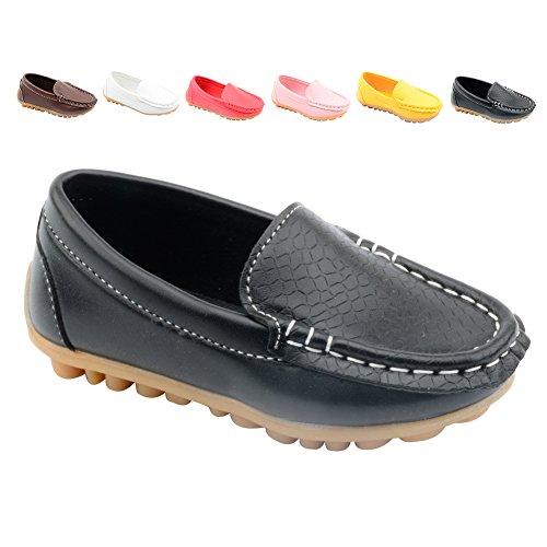 Gloria JR Kinder Slip-on Loafers Oxford Schuhe Für Mädchen Junge (Label Size EU 27, Black(Schwarz))