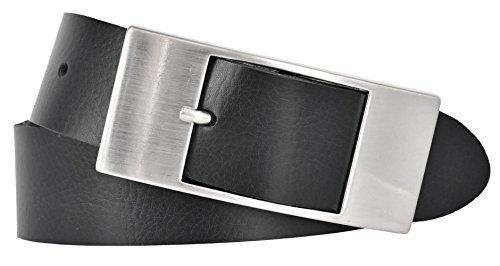 Mytem-Gear Damen Leder Gürtel 35 mm Nappaleder Damengürtel (80 cm, schwarz) - Damen Frauen Leder Schwarz