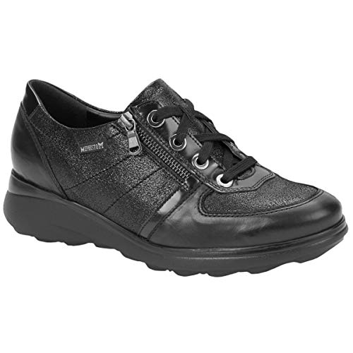 Mephisto Jill J4182-7800 Leather Womens Shoes - Black - 5