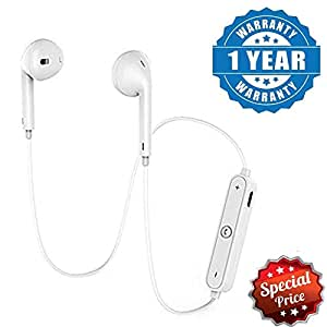 Captcha® S6 Wireless Bluetooth V4.1 Stereo Headset with Mic Noise Cancelling Sweatproof Sports Running Headset for Redmi 5a & One Plus 6 Mobile