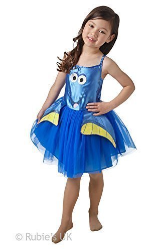 Mädchen Rubies Disney Finding Dory Oder Nemo Tutu Kinder Kostüm Kleid Outfit - Blau, Größe 98