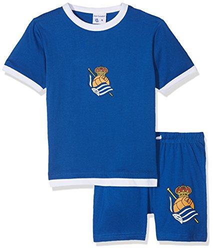 Real Sociedad Pijrso Pijama Corta, Bebé-Niños, Multicolor (Azul/Blanco), XL
