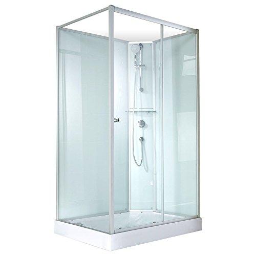 Schulte 4060991009891 Cabine de douche complète Corsica, cabine de douche intégrale, version droite, vert d'eau, 120x90 cm