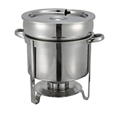 Winco 211 Stainless Steel Soup Warmer, 11-Quart