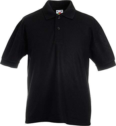 Fruit Of The Loom Kinder 65/35 (DE) Ideal für die Schule geeignet Kids Pique Polo-Shirts (Polo Kind Pique Ein)
