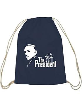Shirtstreet24, HOC - The President, Baumwoll natur Turnbeutel Rucksack Sport Beutel