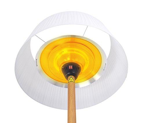 Primrose 2.100 Watt Firefly™ Infrarot-Heizstrahler (Halogen) Terrassenheizung, freistehend, 3 Leistungsstufen, Eichenoptik - 7
