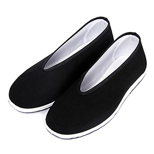 5873bf7aa Chinese Traditional Old Beijing Shoes Unisex Martial Art Kung Fu Tai Chi  Rubber Sole Shoes Black