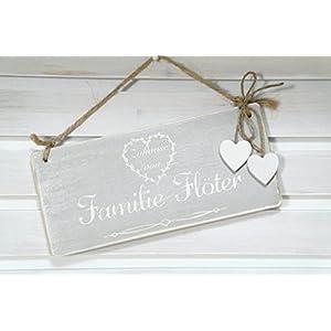 Türschild in Grau aus Holz / Familie / Handmade