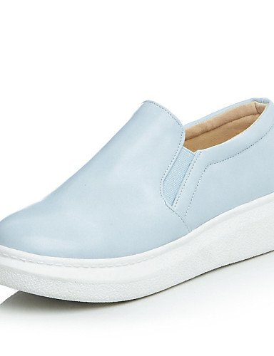 ZQ gyht Scarpe Donna - Mocassini - Tempo libero / Casual / Formale - Plateau / Creepers / Punta arrotondata - Plateau - Finta pelle -Nero / Blu / , blue-us8 / eu39 / uk6 / cn39 , blue-us8 / eu39 / uk6 black-us6 / eu36 / uk4 / cn36