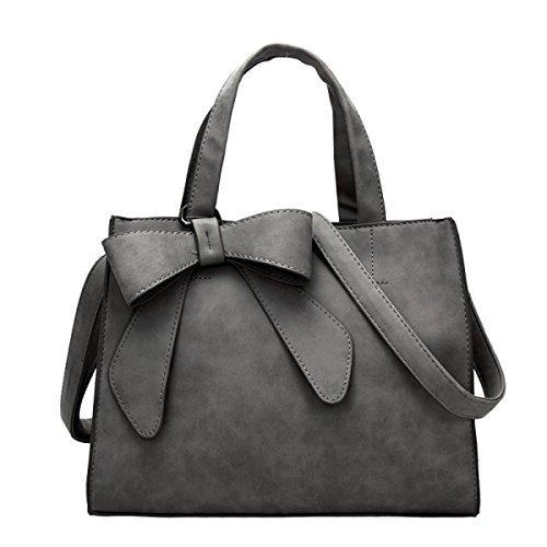 Damenmode Handtasche Einfarbig Umhängetasche Messenger Tasche Darkgray