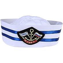 Tinksky Unisex Captain Sailor Hat Sombrero militar de la Marina de guerra  de la capitán Casquillo d3d9ff723ed