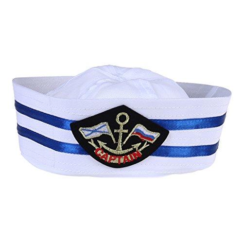 Yacht Hut Erwachsene (LUOEM Captain Hut Cap Sailor Hut Skipper Navy Marine Cap Kinder Yacht Cap Hut für Kostüm Zubehör)