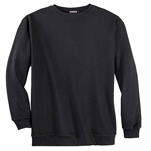ADAMO Fashion schwarzes Sweatshirt Übergröße, XL Größe:7XL