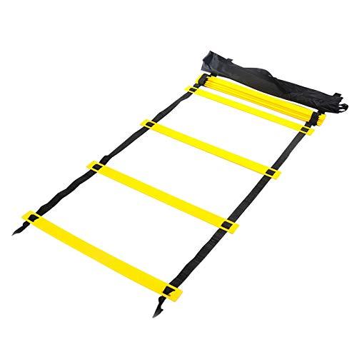 NewPointer Tragbare Fußball-Trainingsleiter/Energieleiter/Beweglichkeitsleiter/Geschwindigkeitsleiter (gelb), Happy Sports -