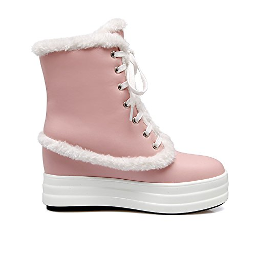 HSXZ Scarpe da donna in similpelle Fall Winter Snow Boots Fashion Stivali Stivali Bootie Null Round Flat Toe stivaletti/stivaletti stivali Mid-Calf / per White