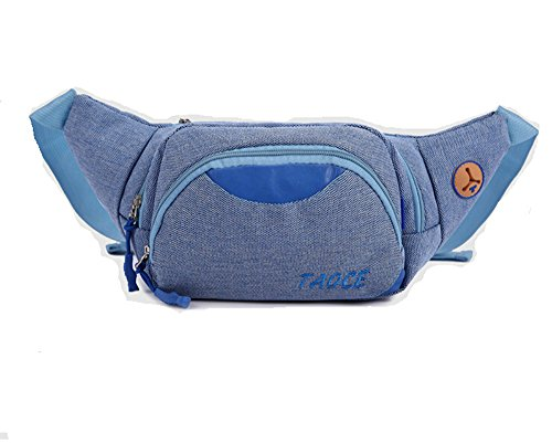 KISS GOLD Bauchtasche Gürteltasche Waist Bag für Sport, 22x15x6 cm blau