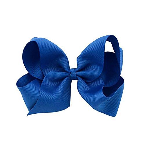 rzctukltd-1pcs-6-big-handmade-bow-hair-clip-alligator-clips-girls-ribbon-kids-sides-royal-blue