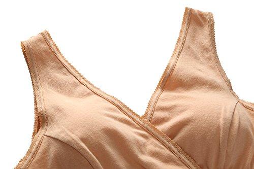 Topwhere® Sommeil/ Maternité Soutien-Gorge De Tous Les Jours – Femme Grey+Nude