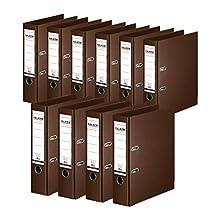 Original Falken Chromocolor Premium Folder Made in Germany Plastic Cover Outer 10 Pack 10er Pack breit Brown