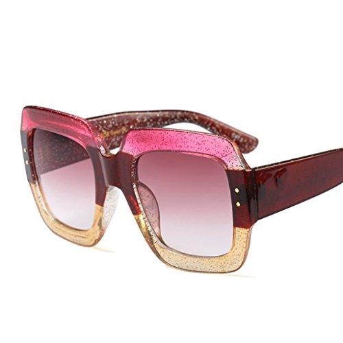 YANJING Europa und die Vereinigten Staaten Qualität Mode DREI-Farben-Rahmen Sonnenbrille benutzerdefinierte Luxus Farbe Kristall Gezeiten Coole Sonnenbrille CUIYAN (Farbe : 4)