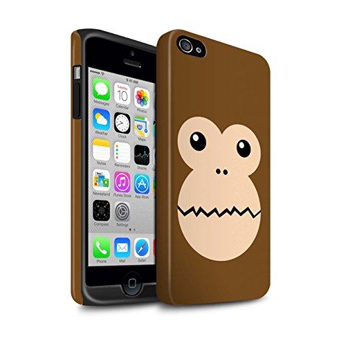 Stuff4® Matte Harten Stoßfest Hülle/Case für Apple iPhone 4/4S / AFFE Muster/Animierte Tiergesichter Kollektion (Affe Iphone 4s)
