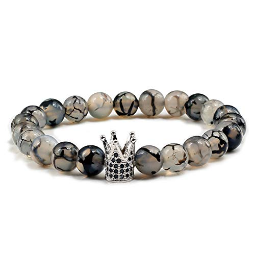 HMKLN 3 Stil Tiger Augen schwarz Lava perlen armbänder kaiserkrone naturstein Buddha Charme Armband Frauen männer schmuck Geschenke