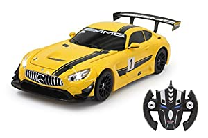 Jamara 410029 - Modelo de Mercedes AMG GT3 Transformable (1:14, 2,4 GHz), Color Amarillo