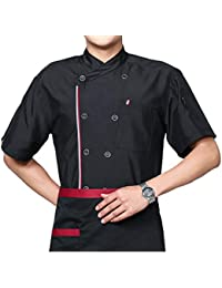 Camisa de Cocinero Manga Corta Unisexo