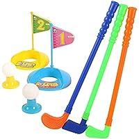 Angmile Mini Juego de Juguetes de Golf Juego de Golf para niños Golf Rod Golf Ball Golf Flags Kit